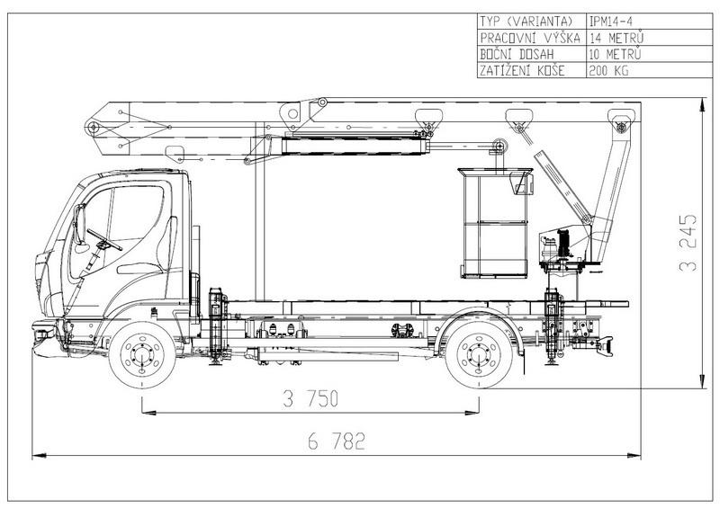Technologický nákres Plošiny IPM
